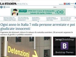 Ogni anno in Italia 7 mila persone arrestate e poi giudicate innocenti